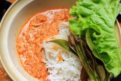 Tagliatella di riso della noce di cocco Fotografia Stock