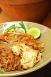 Tagliatella di riso fritto della carne di maiale. Fotografie Stock Libere da Diritti