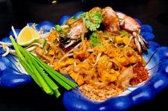 Tagliatella di riso fritto della Tailandia - rilievo tailandese immagine stock