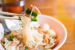 Tagliatella di stile tailandese dell'alimento Fotografia Stock Libera da Diritti