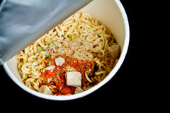 Tagliatella di tazza con l'ingrediente Fotografie Stock