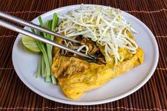 Tagliatella fritta la Tailandia della Tailandia di scalpore Fotografia Stock