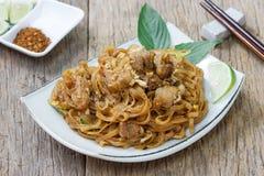 Tagliatella fritta scalpore di Korat's, alimento tailandese Immagine Stock Libera da Diritti