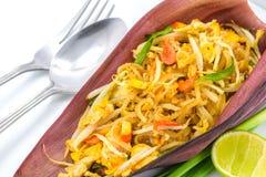 Tagliatella fritta tailandese fotografia stock