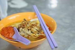 Tagliatella malese del gamberetto in Malesia Fotografia Stock Libera da Diritti