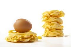Tagliatella przeciwu uovo Fotografia Stock