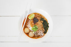 Tagliatella tailandese Fotografie Stock Libere da Diritti