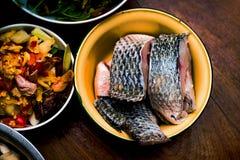 Tagliatella tailandese con Tuna Curry Fotografie Stock Libere da Diritti