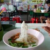 Tagliatella tailandese o KwayTeow Fotografia Stock