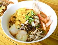 Tagliatella tailandese piccante Fotografie Stock