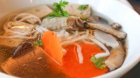 Tagliatella vietnamita con carne di maiale Fotografia Stock Libera da Diritti