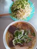 Tagliatella vietnamita di stile di tonalità fotografie stock