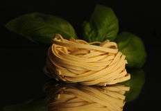 Tagliatelle意大利面食 免版税库存照片