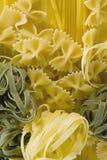 Tagliatelle, farfalle,意粉(spagettine) 图库摄影