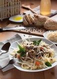 Tagliatelle με τη σάλτσα κρέατος Στοκ Εικόνες