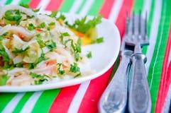 Tagliatelle макаронных изделий с томатом стоковое фото rf