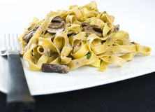 Tagliatelle ai funghi porcini Royalty Free Stock Photos