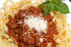 Tagliatelle al ragu Bolognese Royalty Free Stock Photo