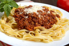 Tagliatelle al ragu Bolognese Royalty Free Stock Photos