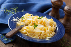 Tagliatelle alfredo Royalty Free Stock Photos