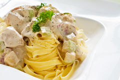 Tagliatelle Alfredo Stock Photography