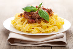 Tagliatelle bolognese Royalty Free Stock Images