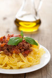 Tagliatelle bolognese Stock Photo