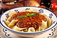 Tagliatelle Bolognese Royalty Free Stock Photography