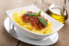 Tagliatelle bolognese Royalty Free Stock Image