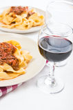 Tagliatelle с Bolognese соусом. Стоковые Фото