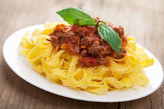 Tagliatelle bolognese Stock Images