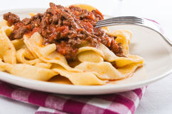 Tagliatelle with Bolognese Sauce. Royalty Free Stock Image