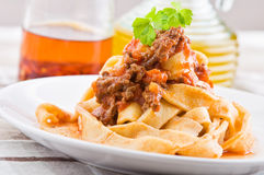 Tagliatelle with Bolognese Sauce. Stock Image