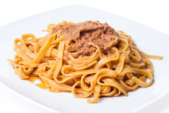 Tagliatelle with bolognese sauce Royalty Free Stock Photography