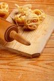Tagliatelle casalinghe fresche Fotografie Stock