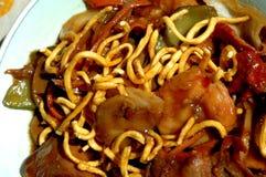 Tagliatelle cinesi dell'alimento Immagini Stock Libere da Diritti