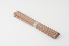 Tagliatelle crude di soba del grano saraceno Fotografia Stock Libera da Diritti