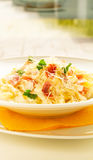 Tagliatelle Cured Meat Royalty Free Stock Photo