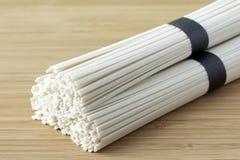 Tagliatelle del grano del Udon Fotografie Stock Libere da Diritti