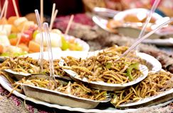 Tagliatelle deliziose di Chowmin dell'indiano immagine stock