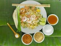 Tagliatelle dell'alimento della Tailandia (cuscinetto tailandese) Immagini Stock Libere da Diritti