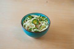 Tagliatelle dello zucchini Immagini Stock