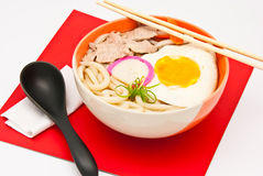 Tagliatelle di Ramen, alimento giapponese Fotografia Stock Libera da Diritti