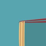 Tagliatelle di ramen piane di progettazione Fotografia Stock