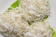 Tagliatelle di riso bianco Immagini Stock Libere da Diritti