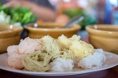 Tagliatelle di riso tailandesi Fotografia Stock Libera da Diritti