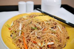 Tagliatelle fritte cinesi Fotografia Stock