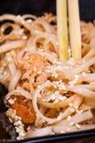 Tagliatelle fritte del udon Fotografie Stock