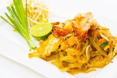Tagliatelle fritte stir tailandese Immagine Stock