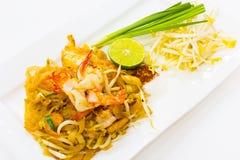 Tagliatelle fritte stir tailandese Fotografia Stock Libera da Diritti